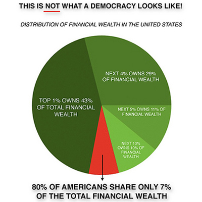 Not a Democracy - wealth pie chart