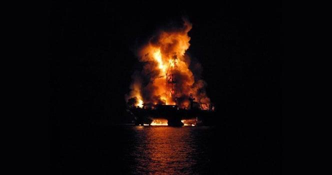 Deepwater Horizon Night Fire