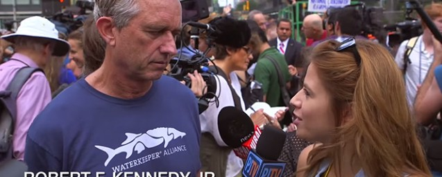 Watch RFK Jr. Destroy Conservative Reporter at Climate March