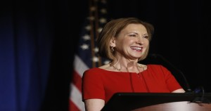 Former Hewlett Packard CEO Carly Fiorina speaks during the Women's Conference of Florida luncheon held in Tampa, Thursday, March 19, 2015. Fiorina is founder of the Unlocking Potential Project a conservative based political action committee. (AP Photo/The Tampa Bay Times, Octavio Jones)  TAMPA OUT; CITRUS COUNTY OUT; PORT CHARLOTTE OUT; BROOKSVILLE HERNANDO TODAY OUT