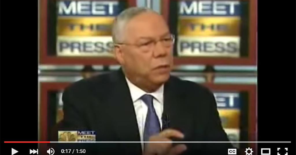 powell muslim Former secretary of state colin powell says the republican party has shifted much further right than the rest of the country — and gop leaders must get its fringe members in line.