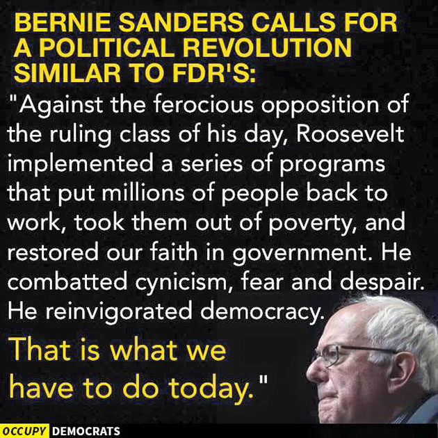 Bernie's FDR Revolution