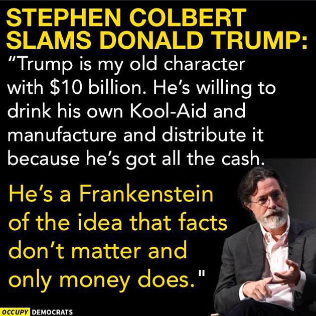 Colbert on Trump