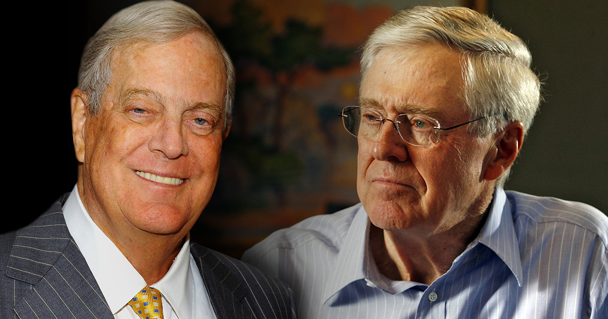 Koch brothers running scared behind the scenes koch for David und charles koch