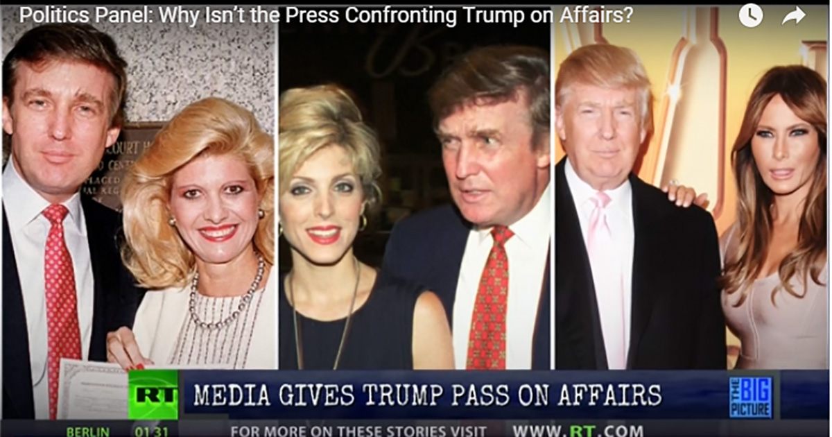 Why Isn't the Press Confronting Trump on His Marital Affairs? - Thom ...