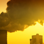Air pollution of heavy industry.
