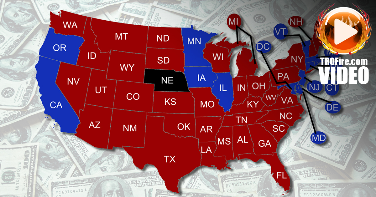 Welfare Hypocrisy Red States Are The Real Freeloaders The Ring - Us map of welfare recipients