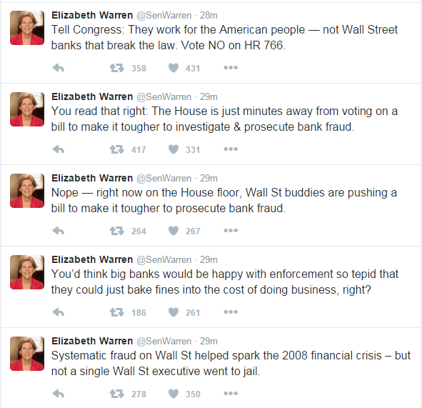 warren tweets