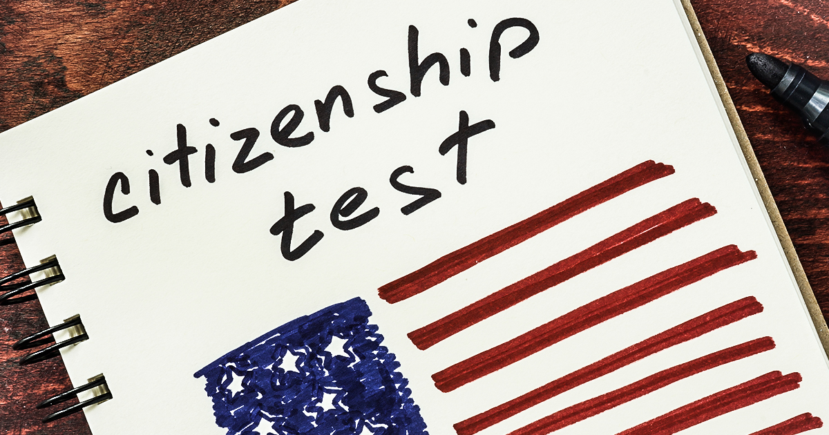 ... Donald Trump Even Pass A Citizenship Test? – Thom Hartmann Program