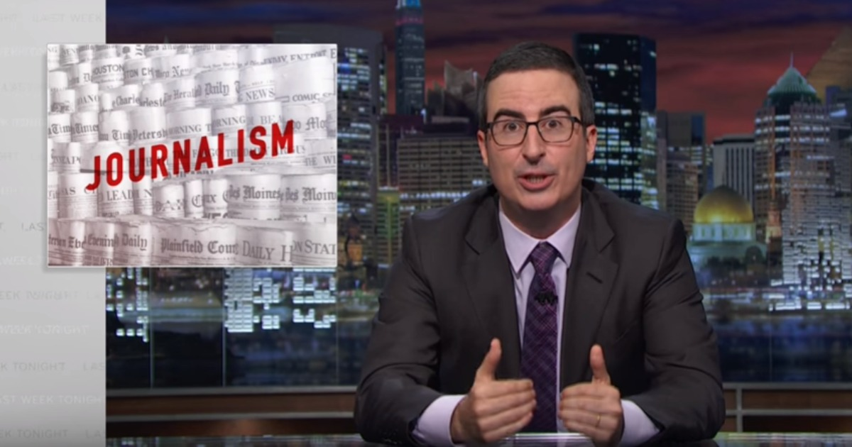 Print Journalism As We Know It Is Dying >> John Oliver Examines The Dying Industry Of Print Journalism What