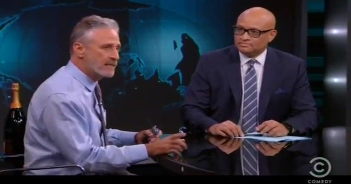 Jon Stewart gives heartfelt send-off to Larry Wilmore
