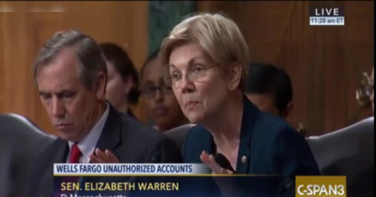 Elizabeth Warren tells Wells Fargo CEO he should be behind bars