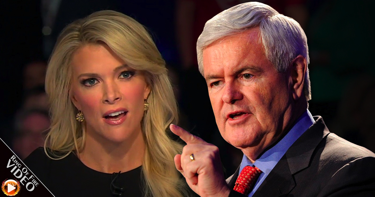 Trump praises Gingrich for taking on FoxNews host