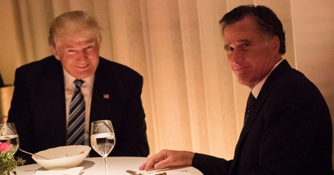 """After Frog Leg Dinner, Romney Now Thinks Trump Can """"Lead Us to Better ..."""