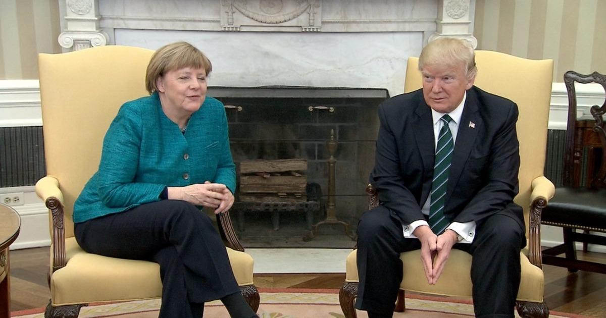 politics donald trump angela merkel handshake