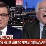Bernie MSNBC Laugh