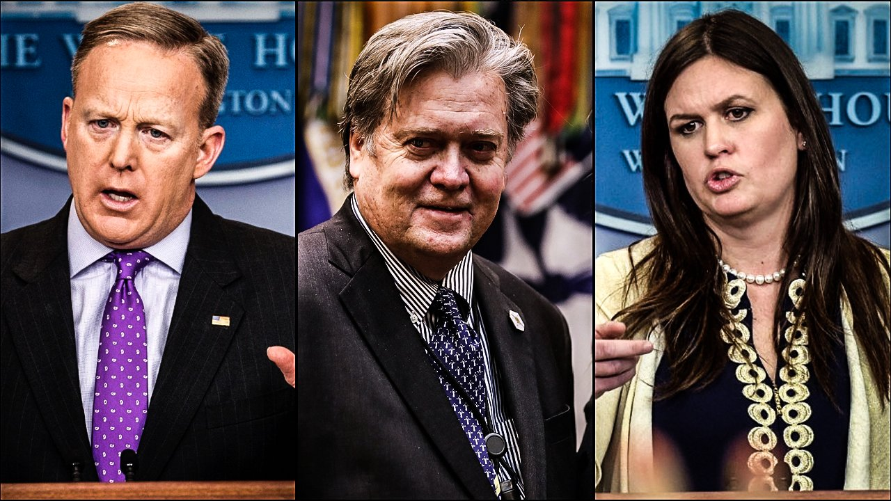 Home Media                       Sean Spicer Steve Bannon And Sarah Huckabee Sanders Erupt In Screaming Match After Intel Leak                   By Gary Bentley