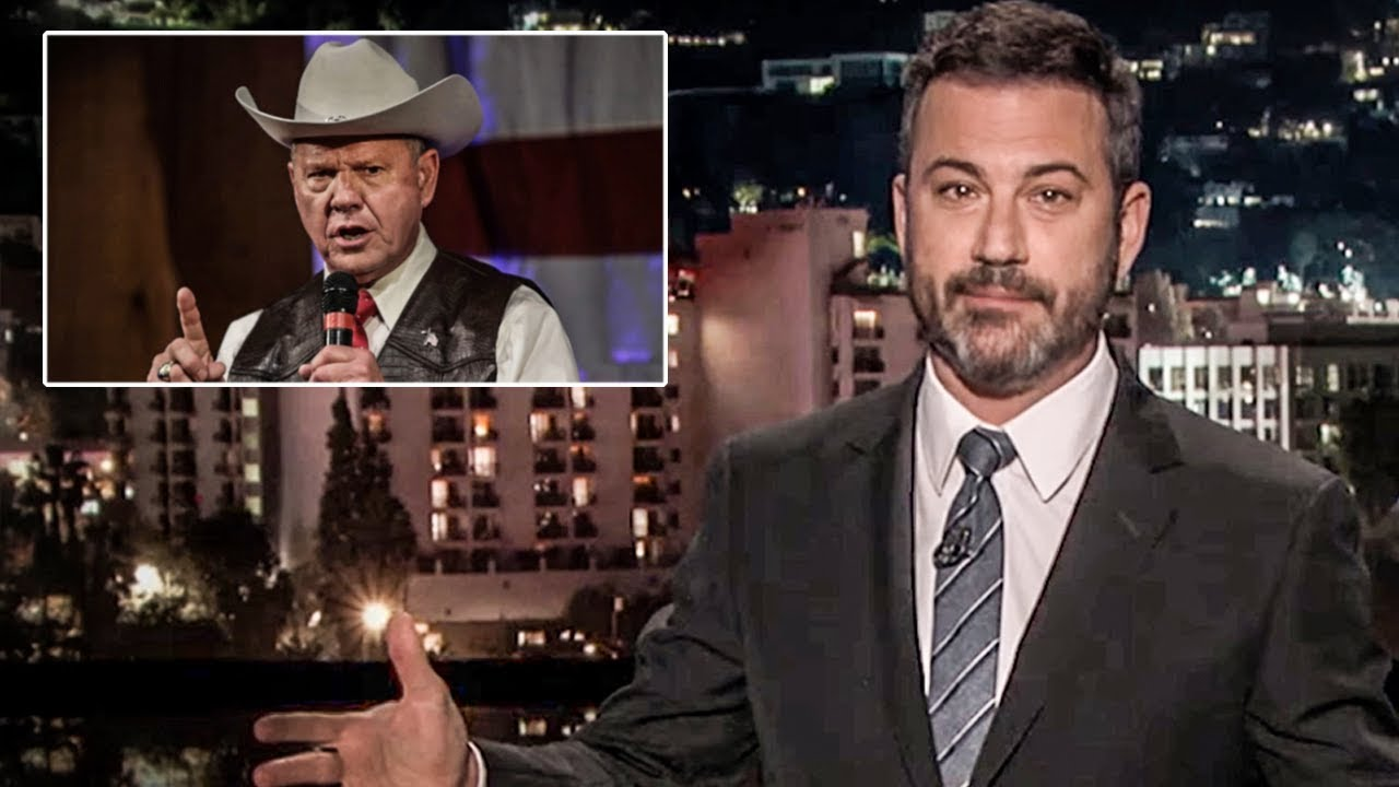 Jimmy Kimmel takes on Roy Moore: 'I accept the invitation' class=