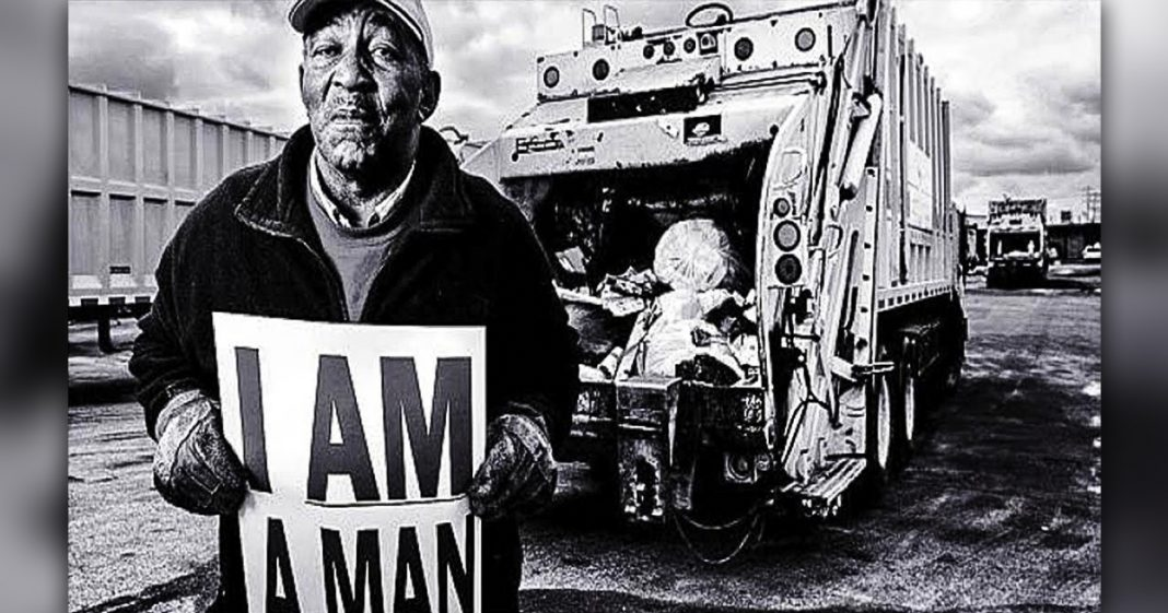an analysis of the memphis sanitation workers strike of 1968 On a cold, rainy afternoon in 1968 a memphis garbage truck malfunctioned and killed the two garbage packers riding inside it was the last straw for the city's more than 1,000 sanitation workers, who walked off the job in protest of the conditions.