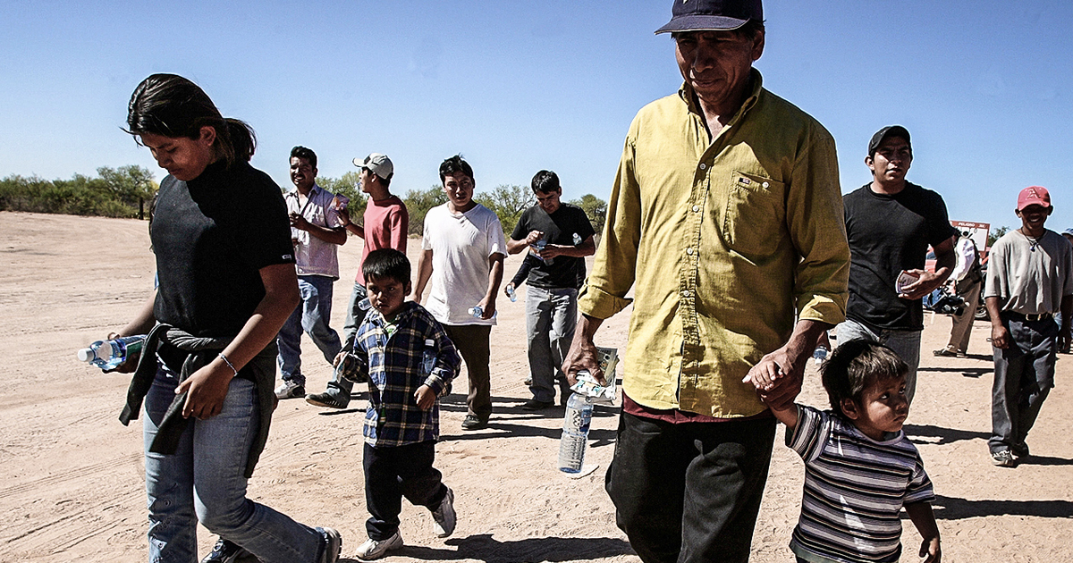 Image result for immigrants in the desert