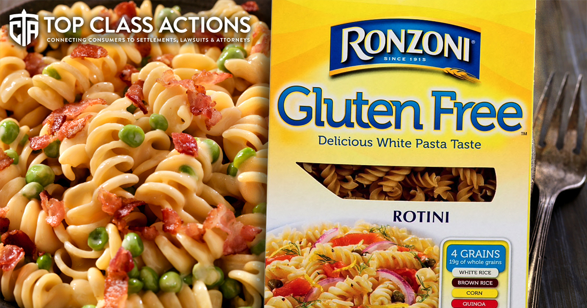 Ronzoni Pasta Sued Over Misleading Packaging The Ring Of
